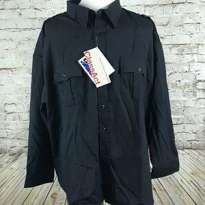 Men's Blauer Uniform Shirt Size 21.5-34/35 Navy